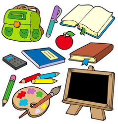 back to school collection 1 vector image