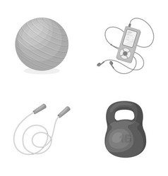 Ball player and other equipment for traininggym vector