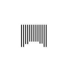 barcode label icon vector image