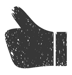 Black all good hand icon vector