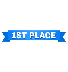 blue stripe with 1st place text vector image