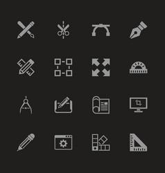 Blueprint - flat icons vector
