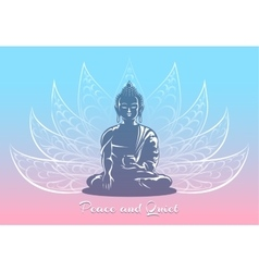 Buddha sitting in lotus pose vector image