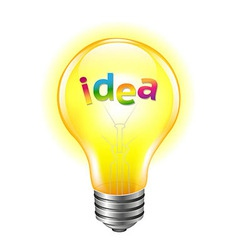 Bulb With Text Idea vector