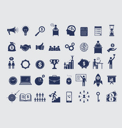 business symbols collection diagram money vector image