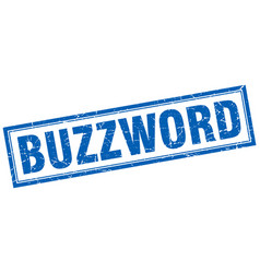 Buzzword square stamp vector