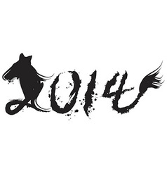 chinese horse year 2014 vector image