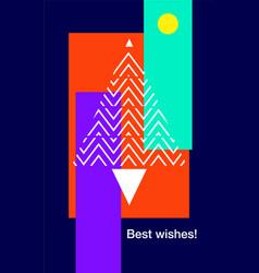 christmas flat line design vector image