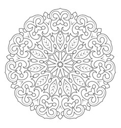 circular geometric ornament round outline mandala vector image