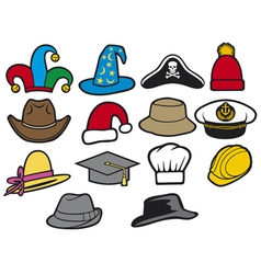 Collection of hats vector
