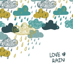 Colorful Rain Clouds Background vector