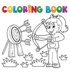 Coloring book kids play theme 3 vector