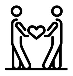 Couple love friendship icon outline style vector