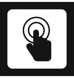 Cursor hand icon simple style vector