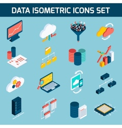 Data analysis icons vector image