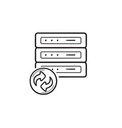 Data recovery hand drawn outline doodle icon vector