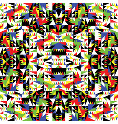 decorative colorful pattern geometric shapes vector image