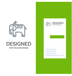 elephant animal grey logo design and business vector image