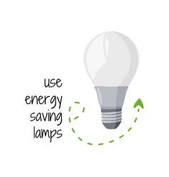 Energy saving lamp simple eco friendly vector