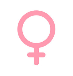 female woman symbol gender and sexual vector image