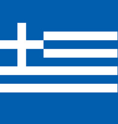 flag of greece national symbol of the state vector image