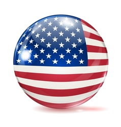 flag united states in form ball vector image