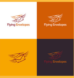 flying envelopes vector image