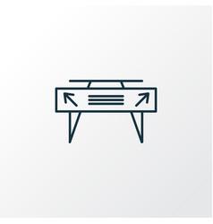gates icon line symbol premium quality isolated vector image