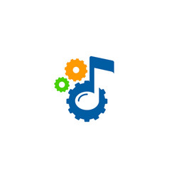 gear music logo icon design vector image