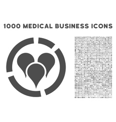Geo Targeting Diagram Icon with 1000 Medical vector