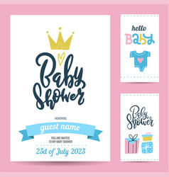 gift tags and birthday invitation card birthday vector image