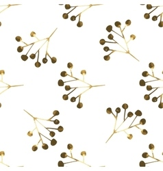 Golden seamless pattern with the image of berries vector image