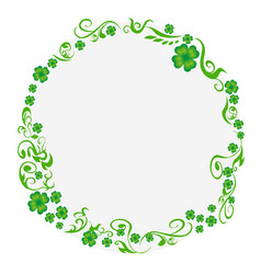 green clover circle background vector image
