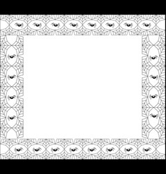 Halloween square black spiderweb frame with vector