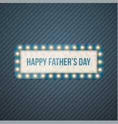 happy fathers day blue striped background vector image