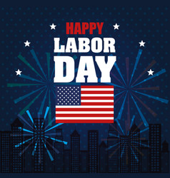 happy labor day national patriotic celebration vector image