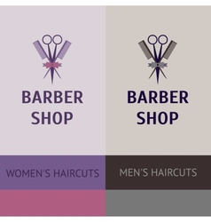 Heraldic logo for a hairdressing salon Business vector