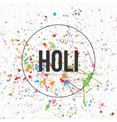 Holi Banner Template for Indian Festival of Colors vector
