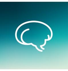 Human brain thin line icon vector