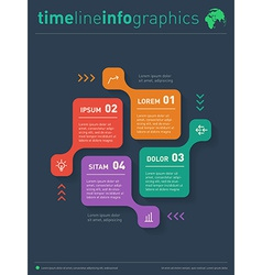 infographic Web Template for diagram Business vector image