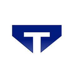 Initial t lettermark symbol design vector