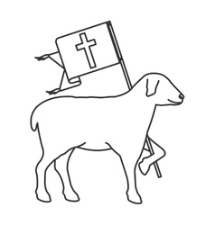 Isolated religion sheep design vector