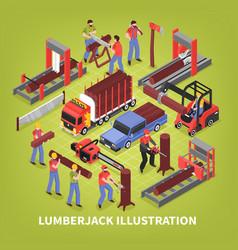 lumberjack isometric vector image