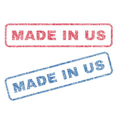 Made in us textile stamps vector