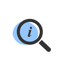 Magnifying glass looking for information isolated vector
