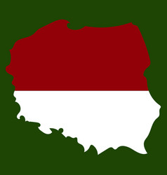 map and flag of poland vector image