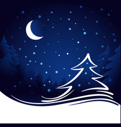Moon and stars christmas background vector