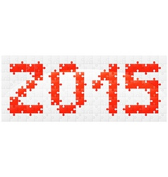 New year puzzle vector