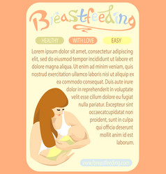Page template doodle breastfeeding mother and vector