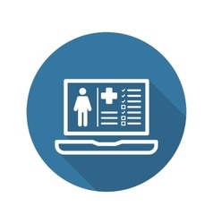 Patient Medical Record Icon Flat Design vector
